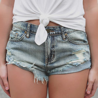 Surf Side Denim Shorts