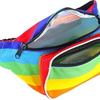 SoJourner Bags Rainbow Fanny Pack (Rainbow)