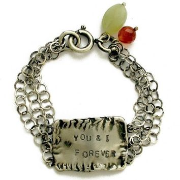 Stamped bracelet Custom Hand Stamped promise by artisanimpact