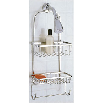 Taymor Jumbo Shower Caddy with Rectangular Basket