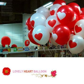 DCCKIX3 20pcs Thicken Latex Balloons Party Festival Wedding Decorations  Large Valentine Printed Heart (Color: Multicolor) = 1933017604
