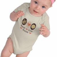 Peace Love Tennis Baby Bodysuit from Zazzle.com
