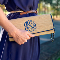 Personalized Clutch Purse, Monogram, Monogrammed Gift, personalized bridesmaids gifts, bridal shower gift, birthday present, clutch wristlet