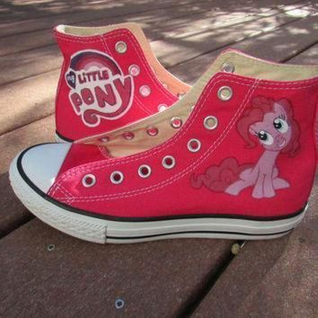 ICIKGQ8 custom painted my little pony friendship is magic pinkie pie youth size 2 converse