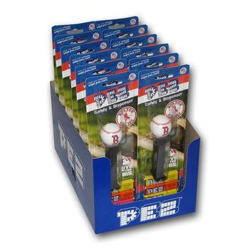 12-Packs Of Mlb Pez Candy Dispenser - Red Sox