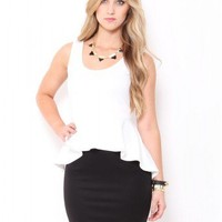 Contrast Peplum Mini Dress - JUST ARRIVED