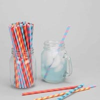 Party Stripe Paper Straw Set- Multi One
