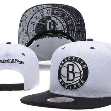 ONETOW Brooklyn Nets Nba Cap Snapback Hat - Ready Stock