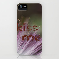 Kiss me iPhone Case by Irène Sneddon | Society6