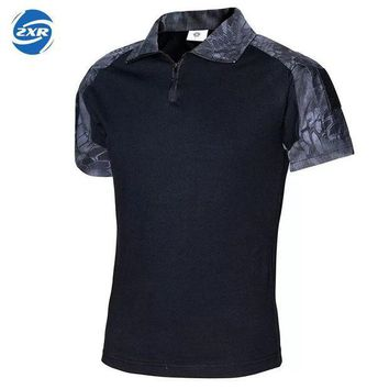 DCCKKFQ Men Summer Camouflage Tactical  Shirt New Paintball Tactical POLO Shirt Short Sleeve Military Cotton Tee Shirts Hunt Clothes