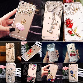 Glitter Rhinestone Case Cover For Samsung Galaxy grand prime G530 G5308, Acrylic mobile phone shell Cover Diamond Phone Cases