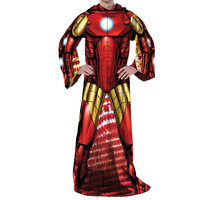 Marvel - Being Iron Man  Adult Uniform Comfy Throw Blanket w- Sleeves