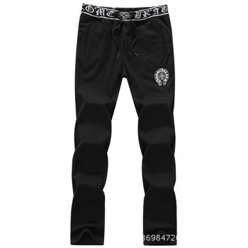 Men Knit Pants Cotton Casual Slim Korean Sportswear [290340208669]