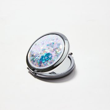 Shell Liquid Glitter Compact Mirror