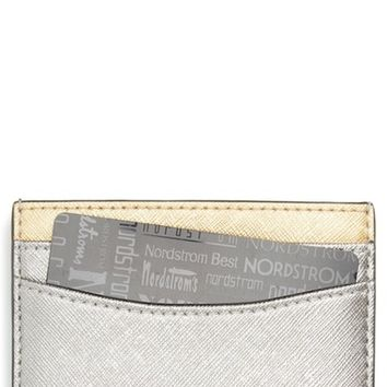 MARC JACOBS Tricolor Saffiano Leather Card Case | Nordstrom
