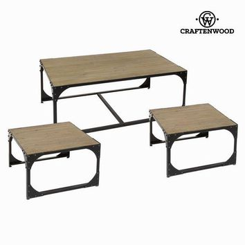 Set 3 metal coffee tables toronto - Thunder Collection by Craften Wood