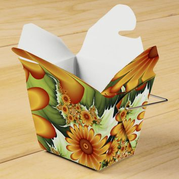 Floral Dream, Modern Abstract Flower Fractal Art Favor Box