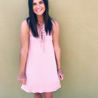 Fireside Nights Dress - Blush