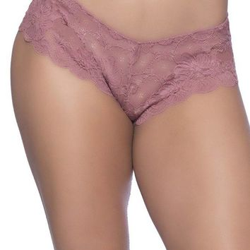 Suzette Mesa Rose Lace Tanga Panty in 1X