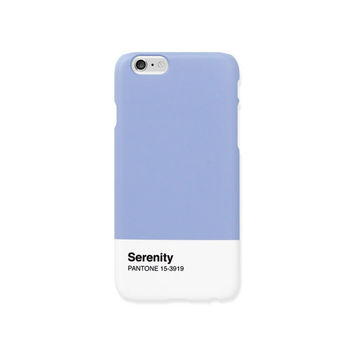iPhone 6s case - Pantone's 2016 trend colors 'Serenity' - iPhone 6s case, iPhone 6s+case, Good Luck Gold Sticker, non-glossy L30