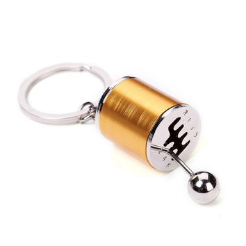 Auto Part Model Six Speed Manual Transmission Shift Lever Keychain Key Chain