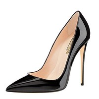 Modemoven Women's Pointy Toe High Heels Slip On Stilettos Large Size Wedding Party Evening Pumps Shoes