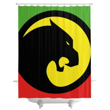 Black Panther RBGY Shower Curtain
