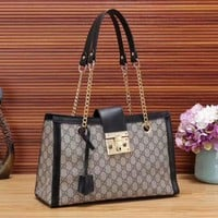 Gucci New Women Fashion Leather Chain Satchel Shoulder Bag Handbag