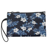 blue hawaii wristlet purses