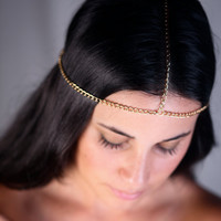 Simple Head Chain. Gold or Silver Chain.