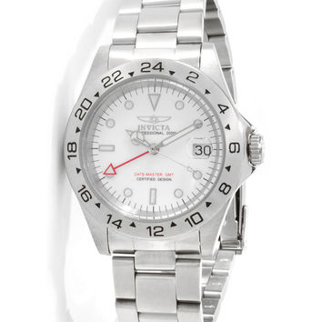 Invicta 9402 Men's Pro Diver GMT Stainless Steel White Dial Dive Watch