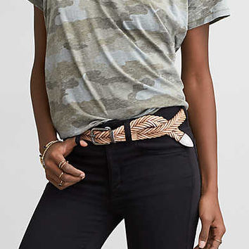 AEO Western Multi Braid Belt , Natural