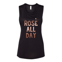 Rose All Day Muscle Tank Top