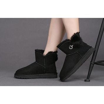 Best Deal Online Fashion UGG LIMITED EDITION CLASSICS Black Boots Women Shoes 1017501