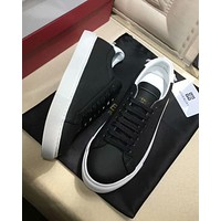 Givenchy 2019 new men's hollow low-top sneakers Black