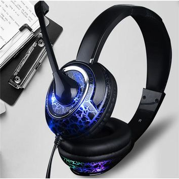 Fashion Color LED Headset with MIC For PC Laptop