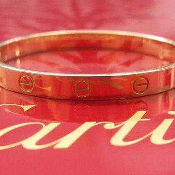 One-nice? Cartier 18Kt Love Bracelet Yellow Gold Size 21 CW2232