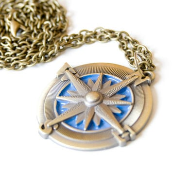Compass Necklace Bronze 10% of this sale will go to Sea Shepherd Conservation Society