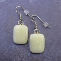 Glass Drop Earrings, Glass Jewelry - Ivory Coast - 1421 - $15.00 - Handmade Jewelry, Crafts and Unique Gifts by MySassyGlass