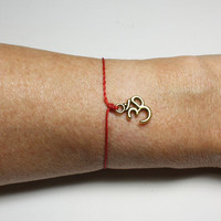 Om Wish Bracelet - Ohm Aum - Gold