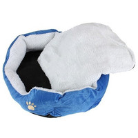 AYHF-BASKET BASKET NICHE CUSHION MATTRESS BED DOG CAT ANIMAL 46*42*15cm Small Size Blue