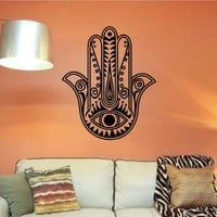 Hamsa Hand Version 103 Decal Sticker Wall Vinyl Art Blessings Power Strength