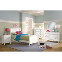 Seaside White Kids Furniture Twin Bed - Value City Furniture