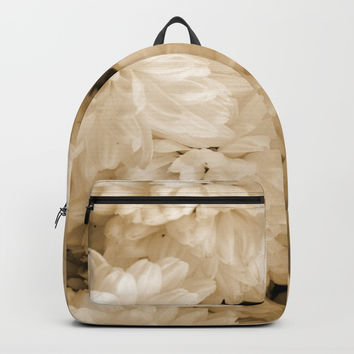 Monochrome Abstract Mums Backpacks by ARTbyJWP