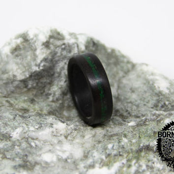 Cyber Monday SALE wood ring Mans wood ring Women wood ring American walnut Malachite ring Wood band Wooden ring Womens fashion Husband gift
