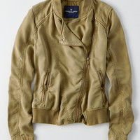 AEO Soft Moto Jacket, Deep Forest