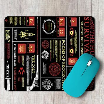 Rectangle Mouse Pad Supernatural Hunter Guide Poster