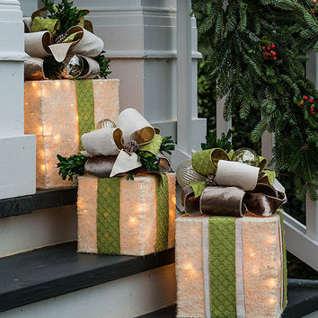southern living pre lit present holiday dcor dillards
