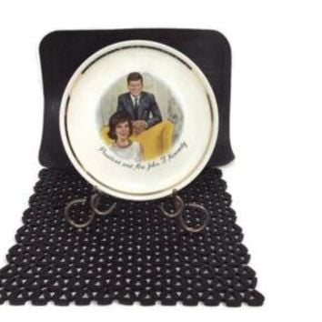 President and Mrs. John F. Kennedy Vintage Collectors Plate w/Gold Trim 9""
