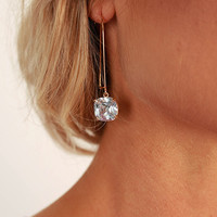 Your Highness Earrings in Clear